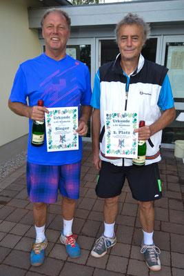 Herren 60 - Sieger Peter Kruber,  2. Platz Peter Rudolph