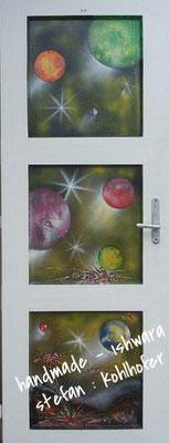 auftragsarbeit - space paint  ( spraykunst)