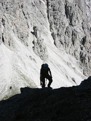 Aufstieg am Klettersteig