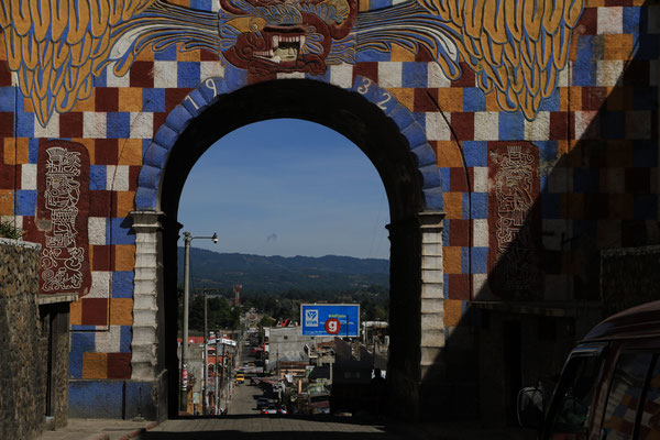 Stadttor in Chichicastenango