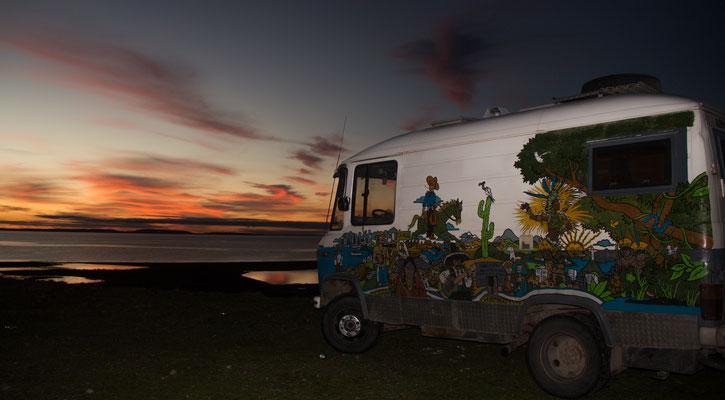 Abendstimmung am Meer, nördliche Carretera Austral