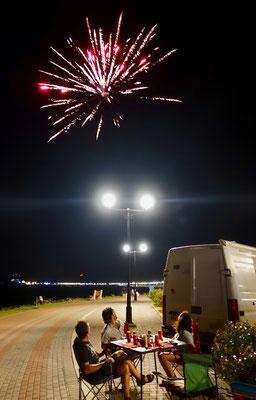 Feuerwerk über Panama City am Heiligen Abend