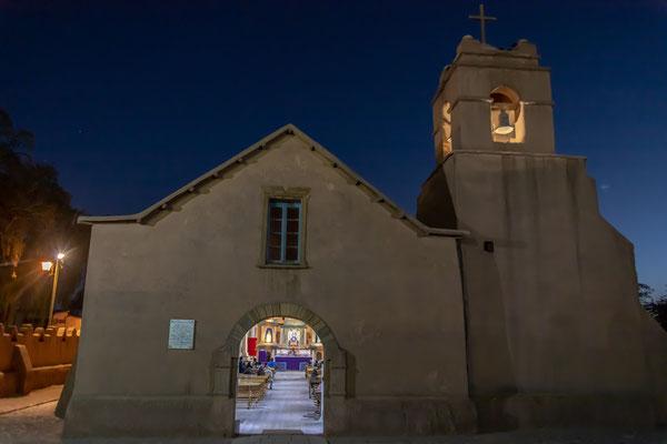 Die Kirche in San Pedro den Atacama von außen