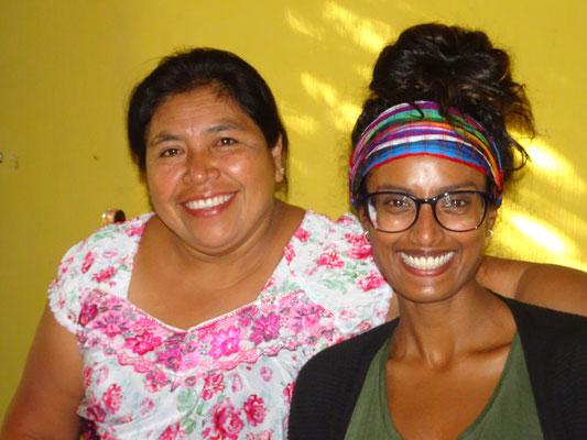 Meine Host-Mam Anita und Mitbewohnerin Dinali