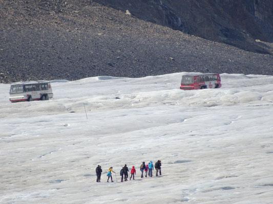 """Begehung des Gletschers nur gegen ca. 50 € mit dem """"Bus"""""""