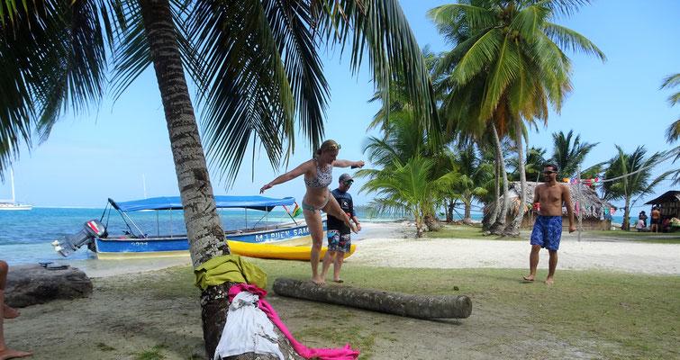 Sport auf und unter Palmen