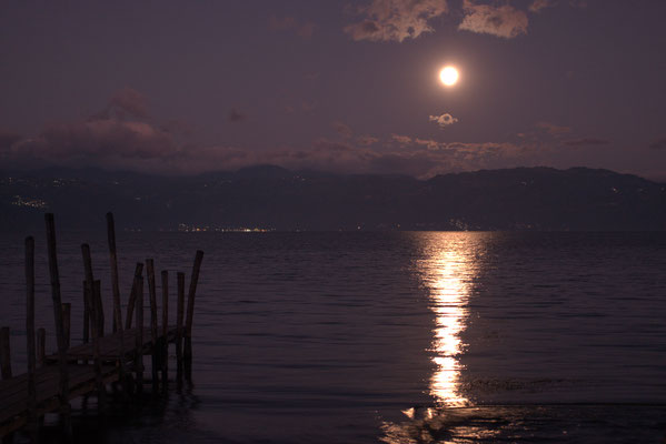 Moon over Lago Atitlan