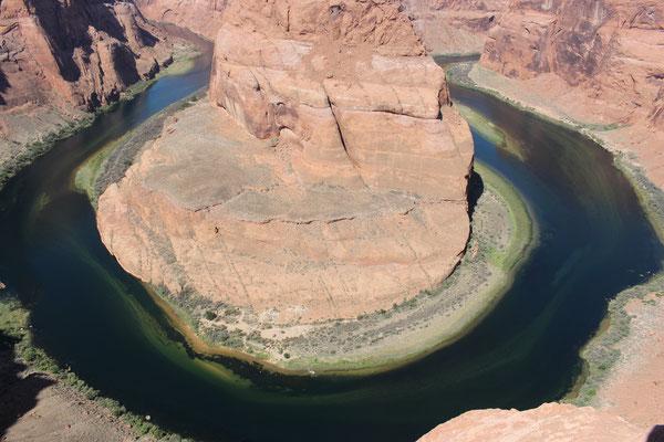 Horseshoe-Bent des Colorado River bei Page/Arizona