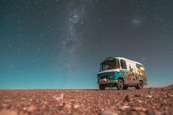 Die Atacama-Wüste ist eine der trockensten der Welt - daher gibt es immer schöne Sternenhimmel