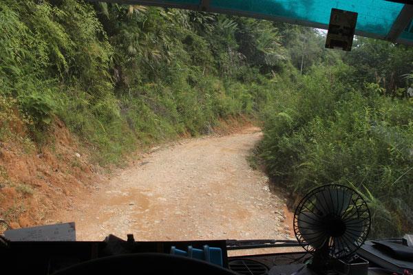 Die Anfahrt nach Guatape war steinig; über 4 Stunden für 20 km