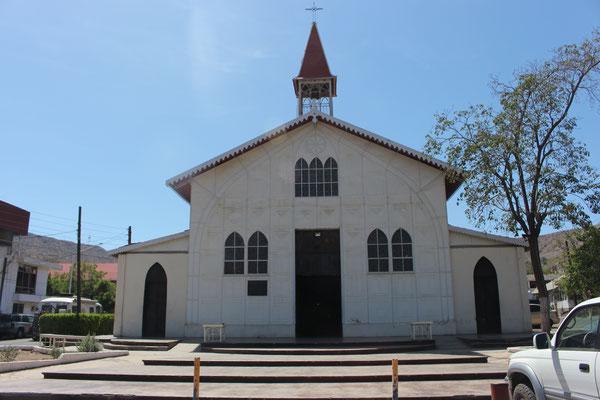 Die Kirche in San Rosarito wurde von Gustav Eiffel entworfen und dann in Einzelteilen hier her gebracht