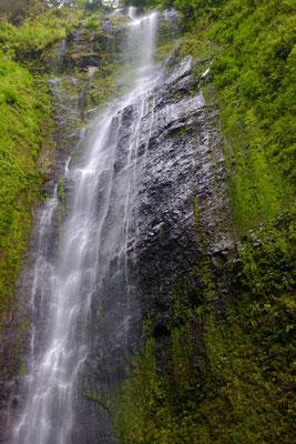Wenig Wasser trotz Regen, aber 200 m Höhe