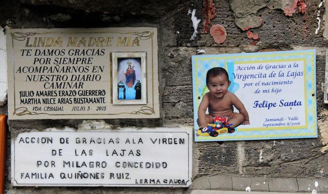 Tafeln mit Danksagungen: Für die Geburt eines Sohnes oder die Gesundheit der Familie