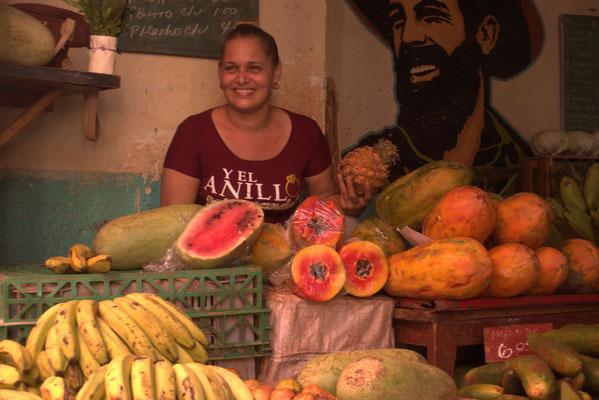 Marktfrau in Vienales