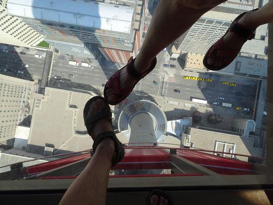 Glasboden in 200 m Höhe - ein mulmiges Gefühl
