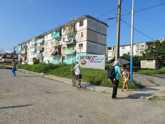 Sozialistischer Wohnungsbau, hier sogar mit Farbe