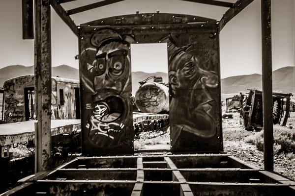 Eisenbahn-Freidhof in Uyuni