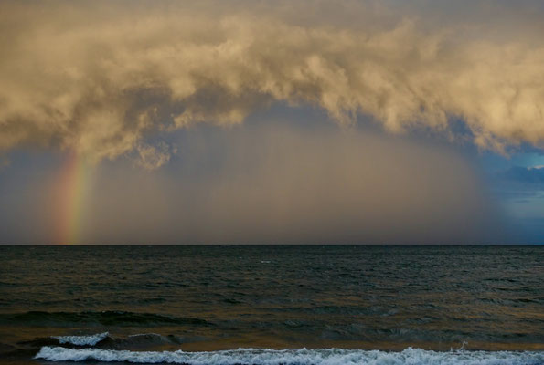 Wolken nach dem Tropenregen der uns richtig nass gemacht hat