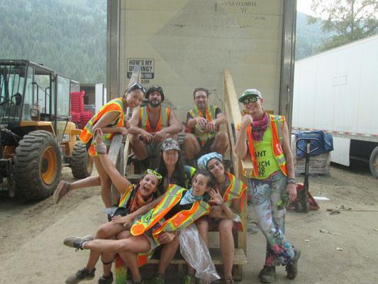 Das Müllteam bei der Pause