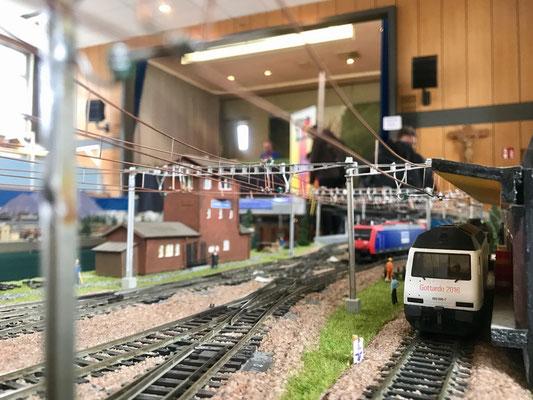Die Bahnhofseinfahrt