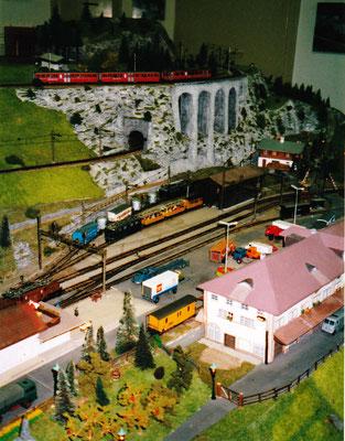 Albulastrecke der RhB bei Bergün in Spur H0m, Foto R. Schwob