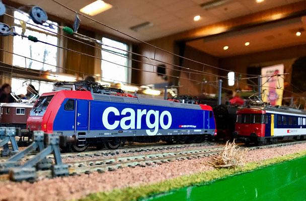 Auch moderne Lokomotiven gönnen sich mal eine Pause