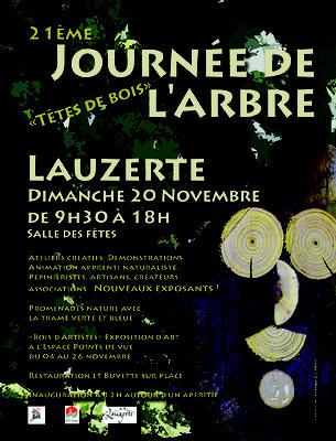 Affiche pour la manifestation la journée de l'arbre réalisation Sandra Clerbois