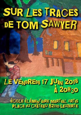 Affiche pour le spectacle des écoles 2016 réalisation Sandra Clerbois