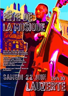 Fête de la musique Lauzerte 2019, réalisation Sandra Clerbois
