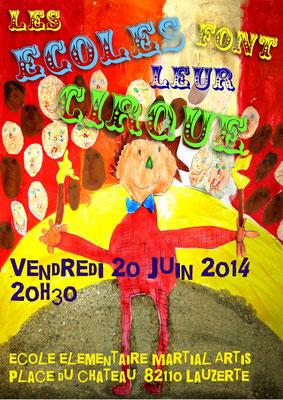 Affiche pour le spectacle des écoles 2014 réalisation Sandra Clerbois