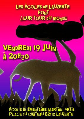 Affiche pour le spectacle des écoles 2015 réalisation Sandra Clerbois