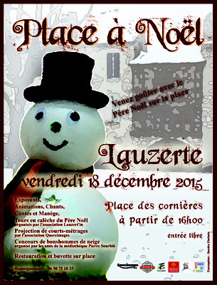 Affiche pour la manifestation Place à Noël 2015, réalisation Sandra Clerbois