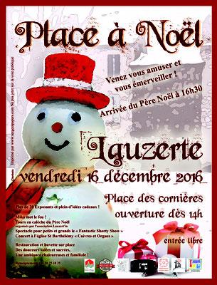 Affiche pour la manifestation Place à Noël 2016, réalisation Sandra Clerbois