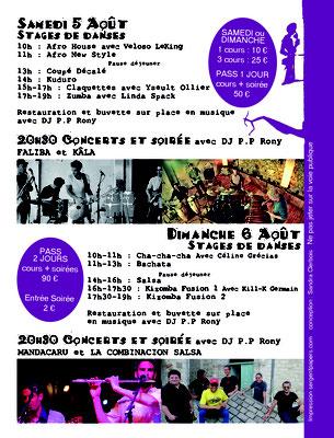 Programme pour les Nuits du Jour Lauzerte 2017 réalisation Sandra Clerbois