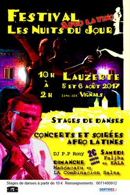 Affiche pour le festival Les Nuits du Jour 2017, réalisation Sandra Clerbois