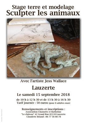 Affiche pour l'atelier du sculpture dans le cadre des Journées Européennes du Patrimoine 2018