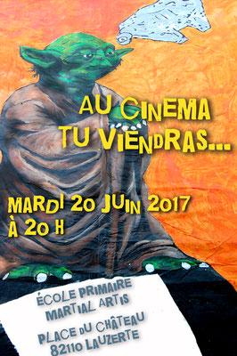 Affiche pour le spectacle des écoles 2017 réalisation Sandra Clerbois