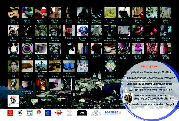 Programme pour les Journées Européennes des Métiers d'Art Lauzerte, réalisation Sandra Clerbois