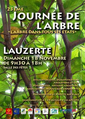 Affiche pour la journée de l'arbre 2018, réalisation Sandra Clerbois