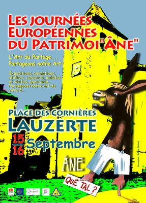 Affiche pour les Journées Européennes du Patrimoine 2018, réalisation Sandra Clerbois