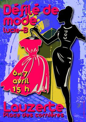 Affiche pour le défilé de mode pour les JEMA 2019, réalisation Sandra Clerbois