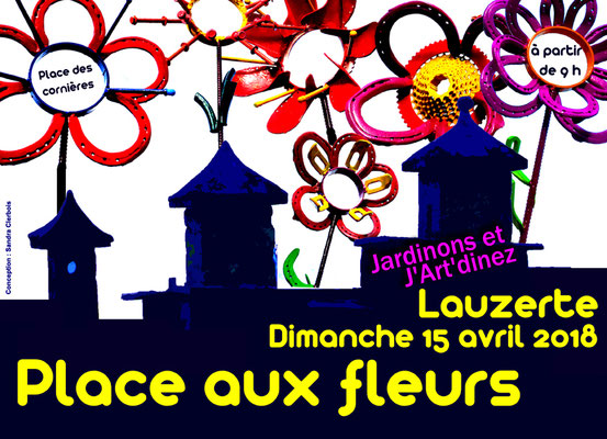 Bandeau pour la manifestation place aux fleurs 2018 réalisation Sandra Clerbois