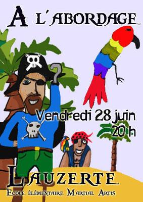 Affiche pour le spectacle des écoles 2019 réalisation Sandra Clerbois