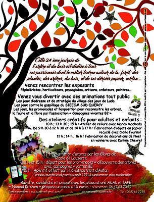 Programme pour la journée de l'arbre 2019, réalisation Sandra Clerbois