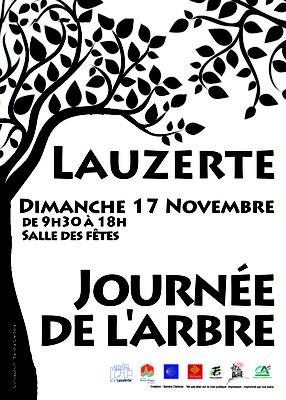 Affiche pour support fluo pour la journée de l'arbre, réalisation Sandra Clerbois