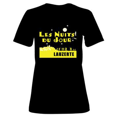 Logo pour T-shirt Les Nuits du Jour Lauzerte, réalisation Sandra Clerbois