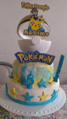 Foto enviada por Virginia - pokemon - Argentina - Adorno de torta realizado por Diseño,kit de cumpleños