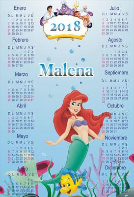 Calendario La Sirenita