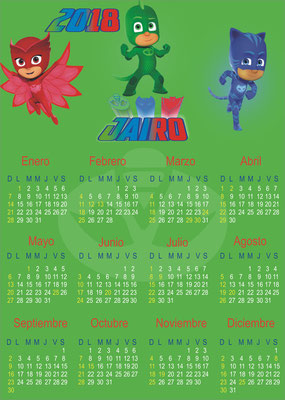 Calendario PJ Masks