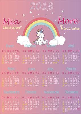 Calendario Unicornio